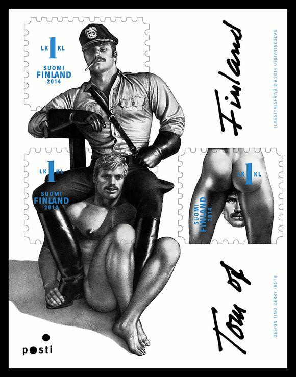 Финляндия выпускает марку с гомосексуалистами