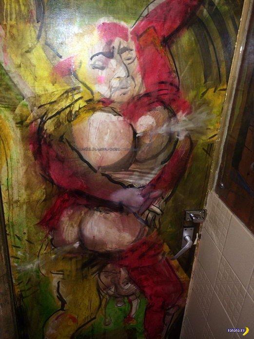 Настенная живопись в ресторане Нью-Йорка