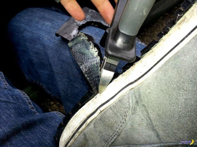 Как продлить жизнь любимым кроссовкам при помощи покрышки?