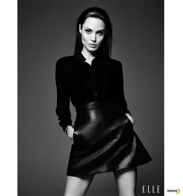 Анджелина Джоли в июньском ELLE