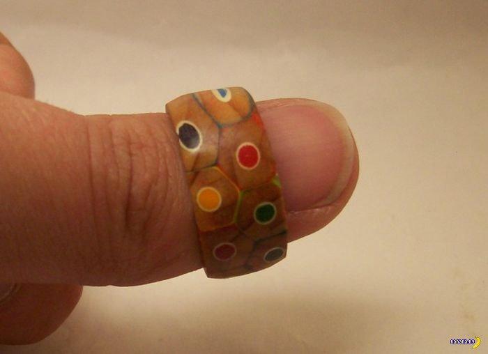 Кольцо из карандашей своими руками
