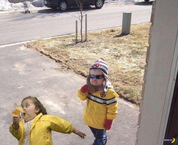 Наглый малой с бананом стал мемом