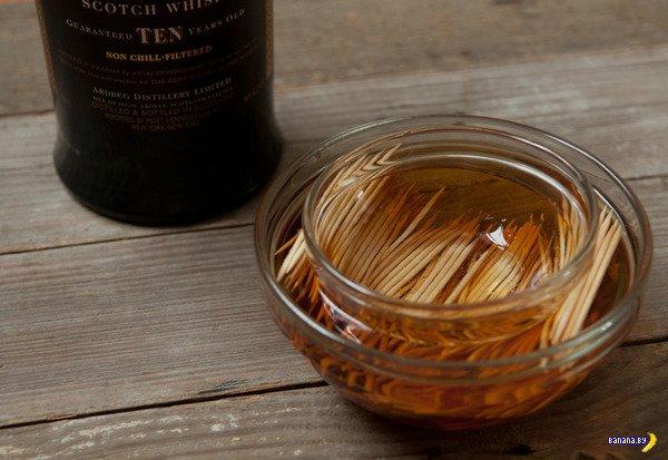 Зубочистки с ароматом виски своими руками