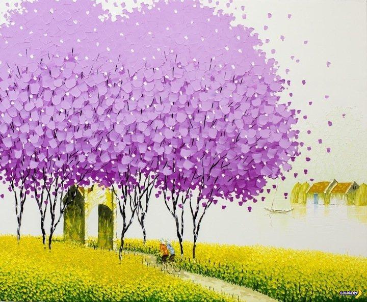 Рисует Фан Су Тран