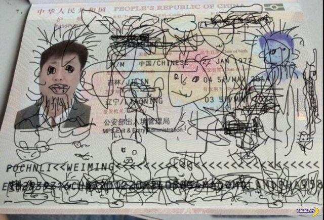 Берегите паспорт от детей!