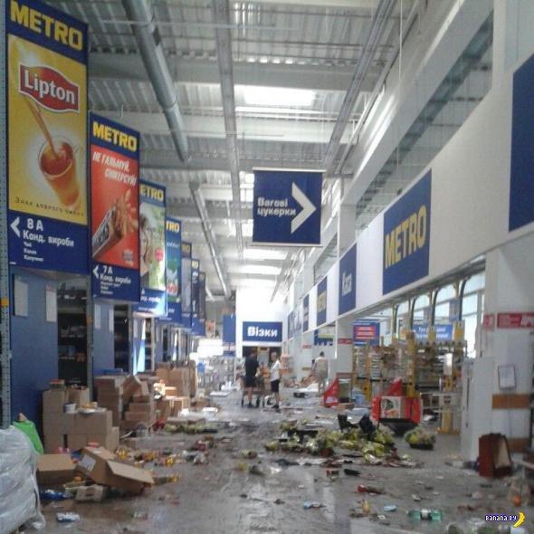 В ДНР грабят супермаркеты