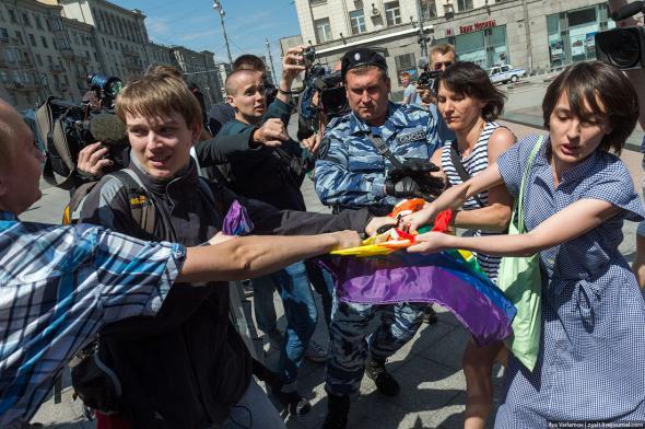 В Москве прошел гей-парад. Как бы!