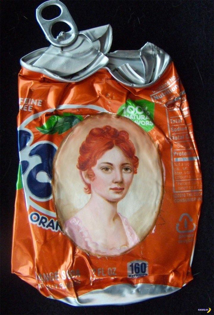 Портреты маслом на мусоре