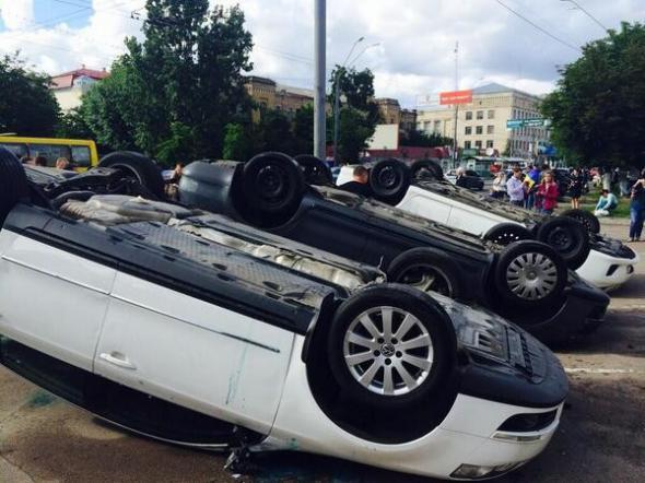 В Киеве шумели у российского посольства