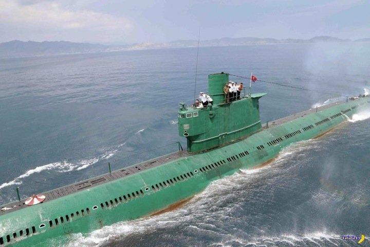 Ким Чен Ын проинспектировал подводную лодку