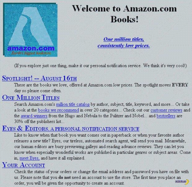 Известные и знаменитые сайты в пору своей юности