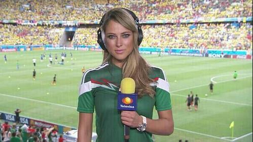 Самая сексуальная репортерша с Чемпионата Мира