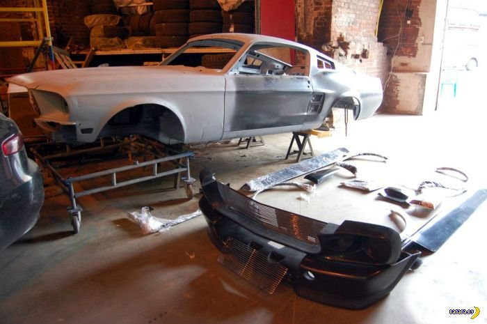 Mustang не пострадал