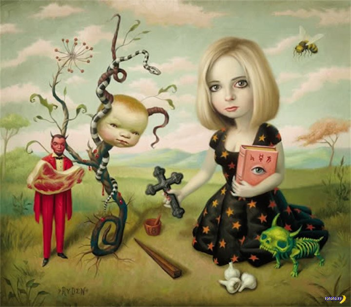 Наталья Поклонская на картине Марка Райдена