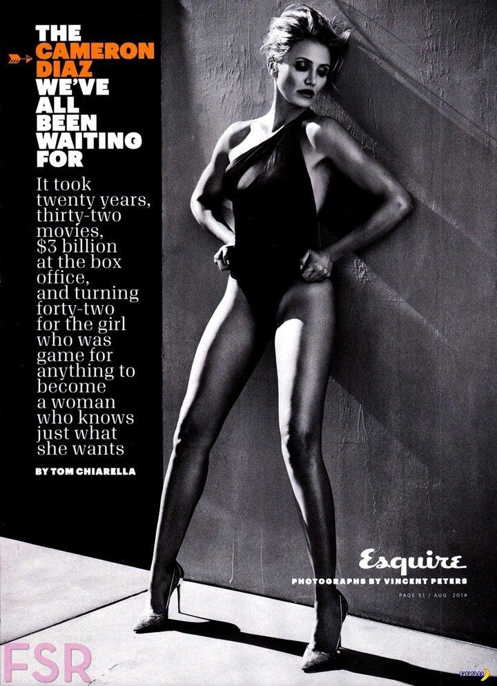 Камерон Диас для Esquire за август 2014