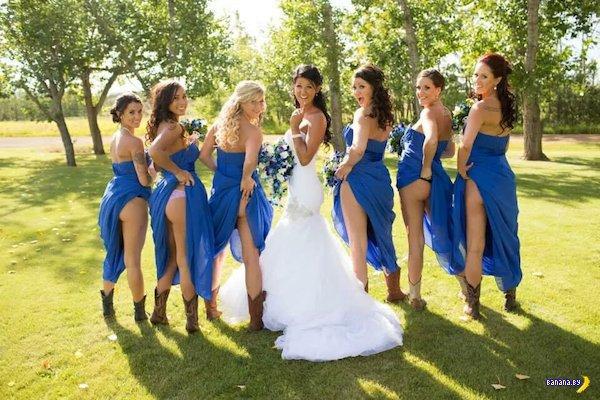 Свадебные попки задают моду