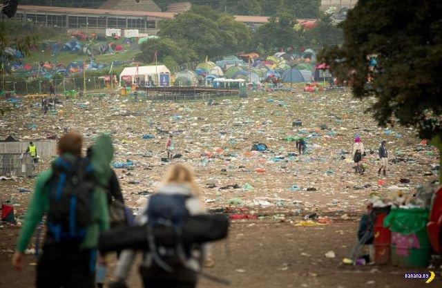 Гластонбери и мусор