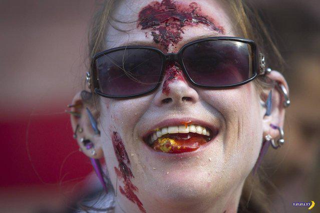 Зомби-парад прошел в Бруклине