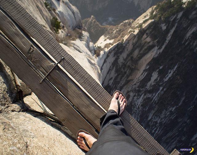 Прогулки в горах - кирпичи летят долго