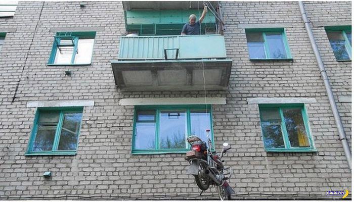 Мастер парковки на мотоцикле
