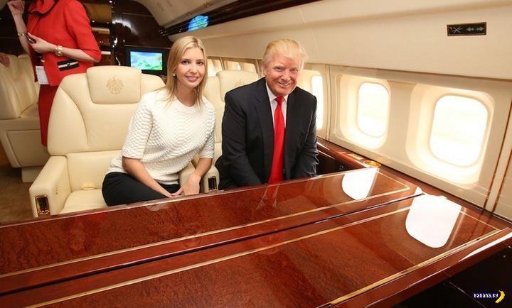 На борту самолета Дональда Трампа