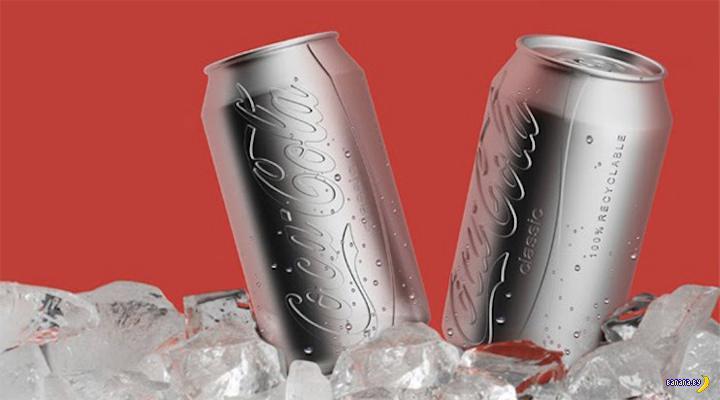 Новый дизайн банки для Coca-Cola