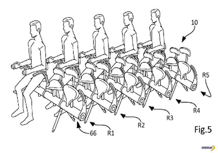 Осталось запатентовать стоячие места в самолетах