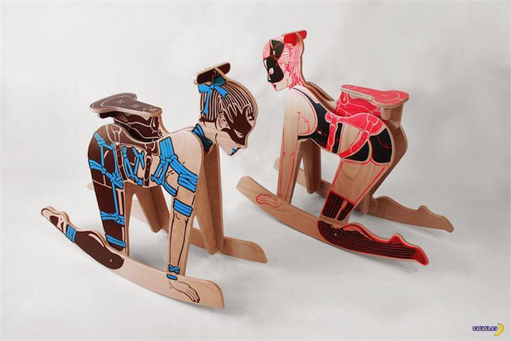 Детская лошадка в BDSM стиле