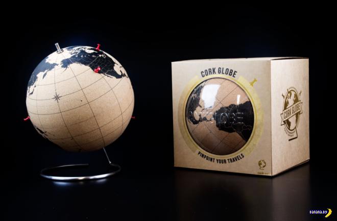 Пробковый глобус для путешественника