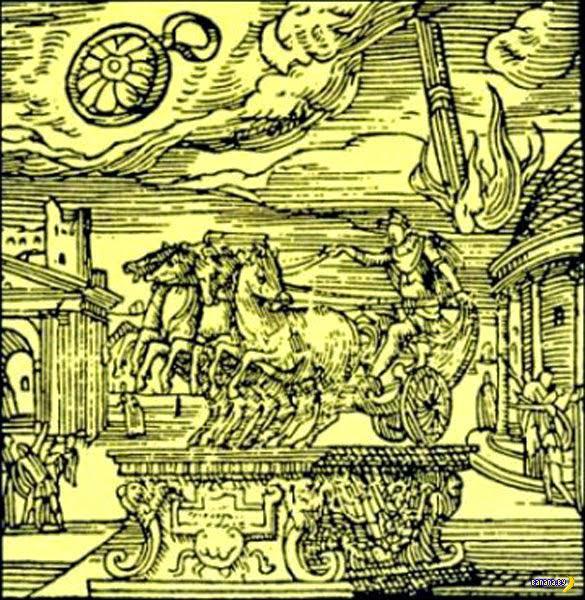 Изображение НЛО на средневековых фресках