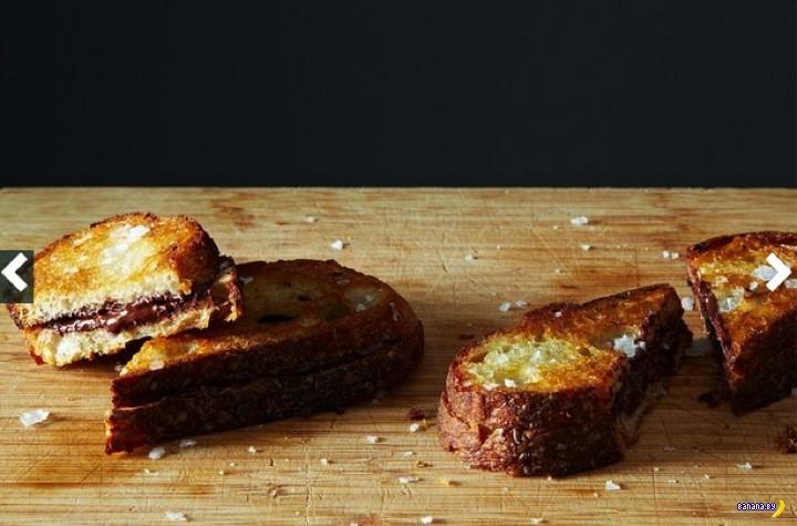 Внезапный десерт: хрустящий сэндвич с шоколадом