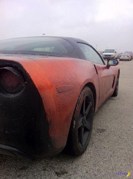 Как муж с женой Corvette делили