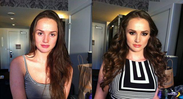 Порнозвезды до и после макияжа