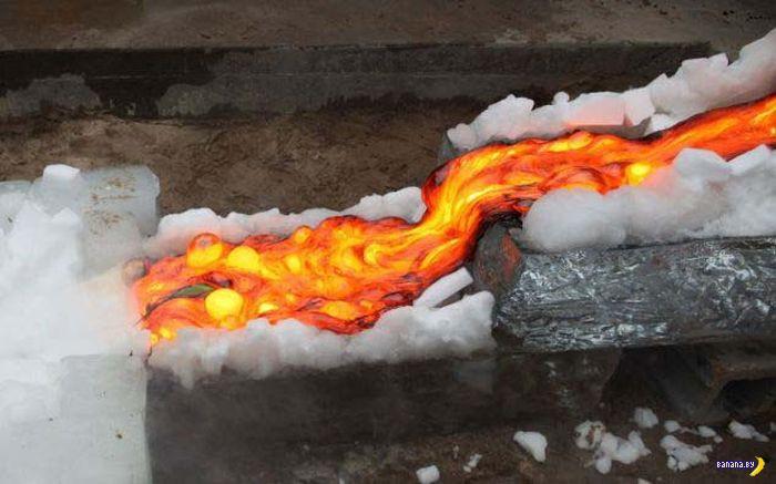 Как сталевары себе обед готовят?