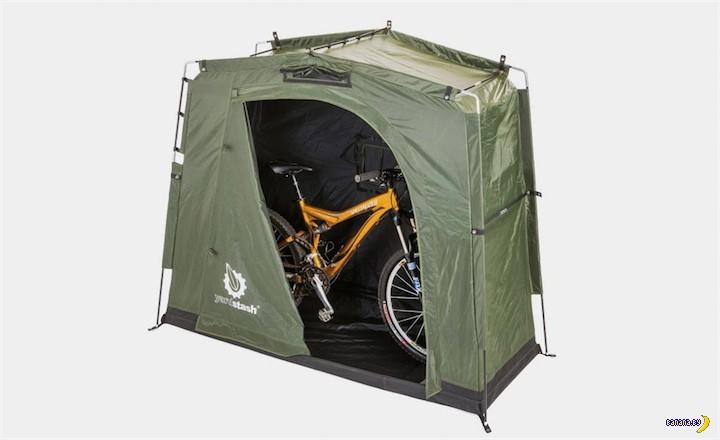 Для велотуристов еще одна палатка