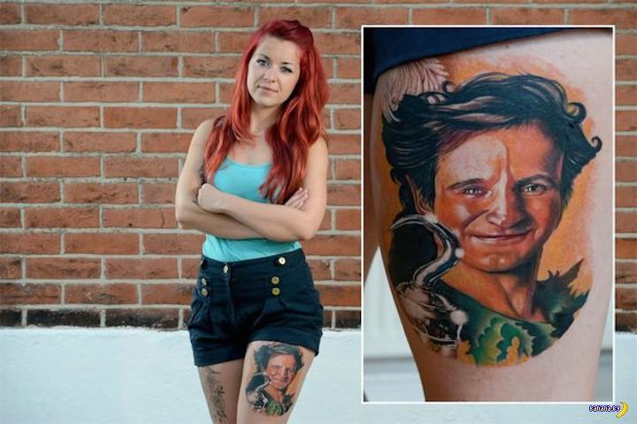 Татуировка в память о Робине Уилльямсе