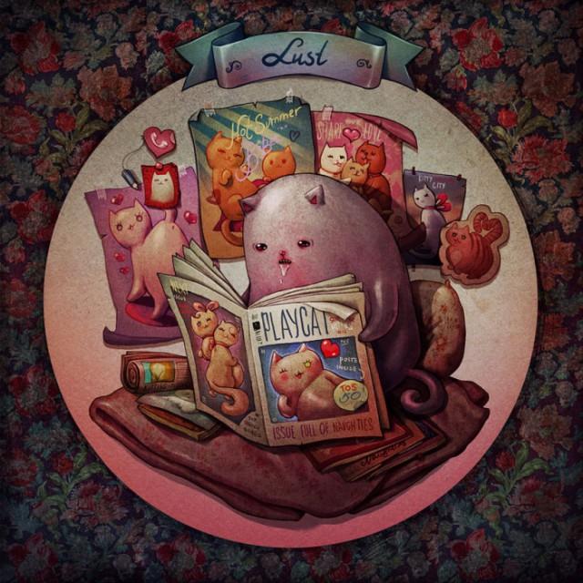 8 кошачьих грехов в иллюстрациях