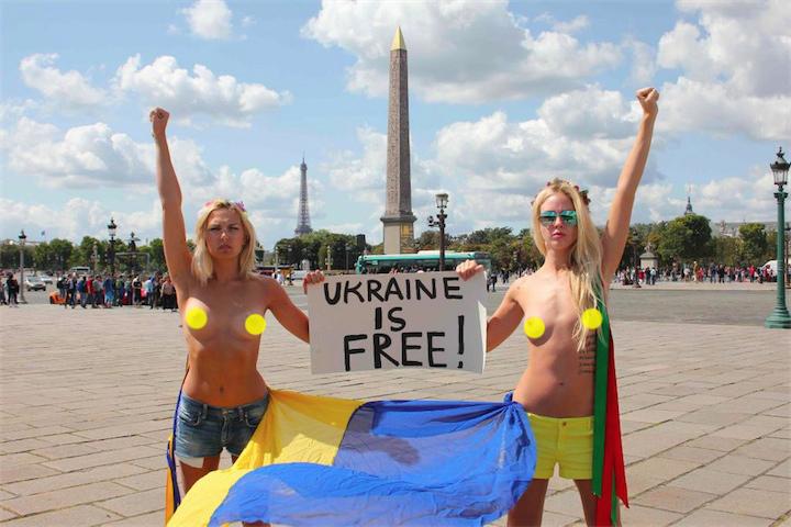 FEMEN шлют привет на родину
