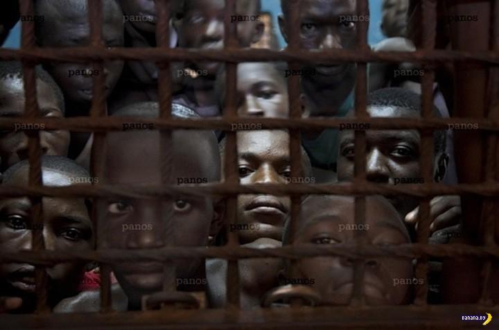 Обычная тюрьма в Сьерра-Леоне