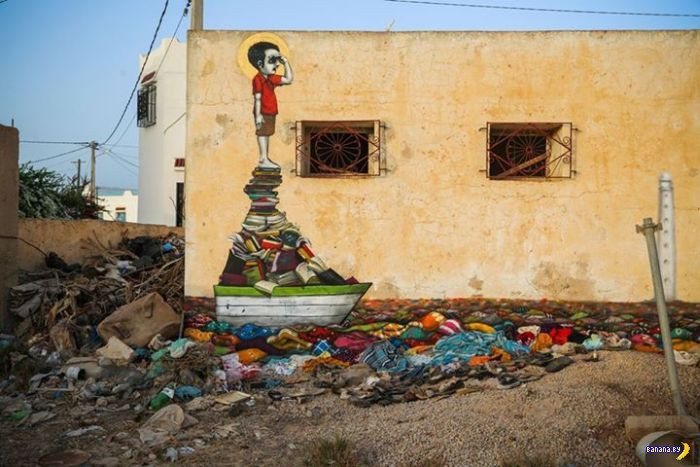 Стрит-арт в Тунисе