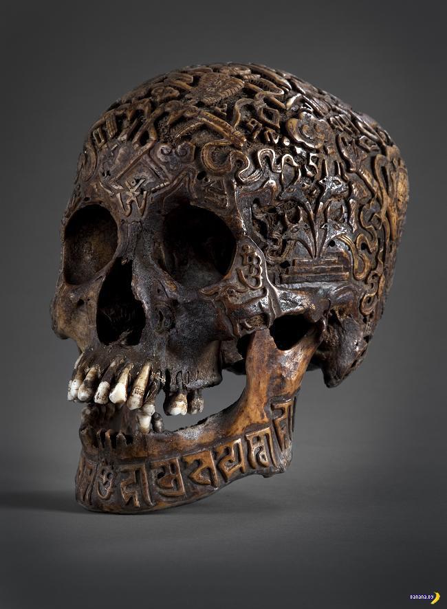Тибетская резьба по черепу