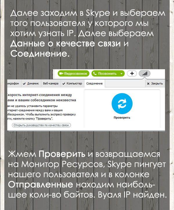 Способ вычисления ip через Скайп