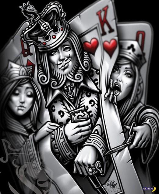 Покертный арт с картами