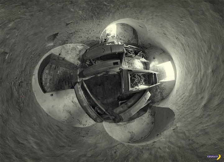 Панорамные снимки заброшенных объектов