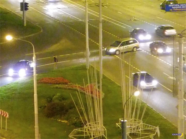 Авария с 4 автомобилями на Ванеева в Минске