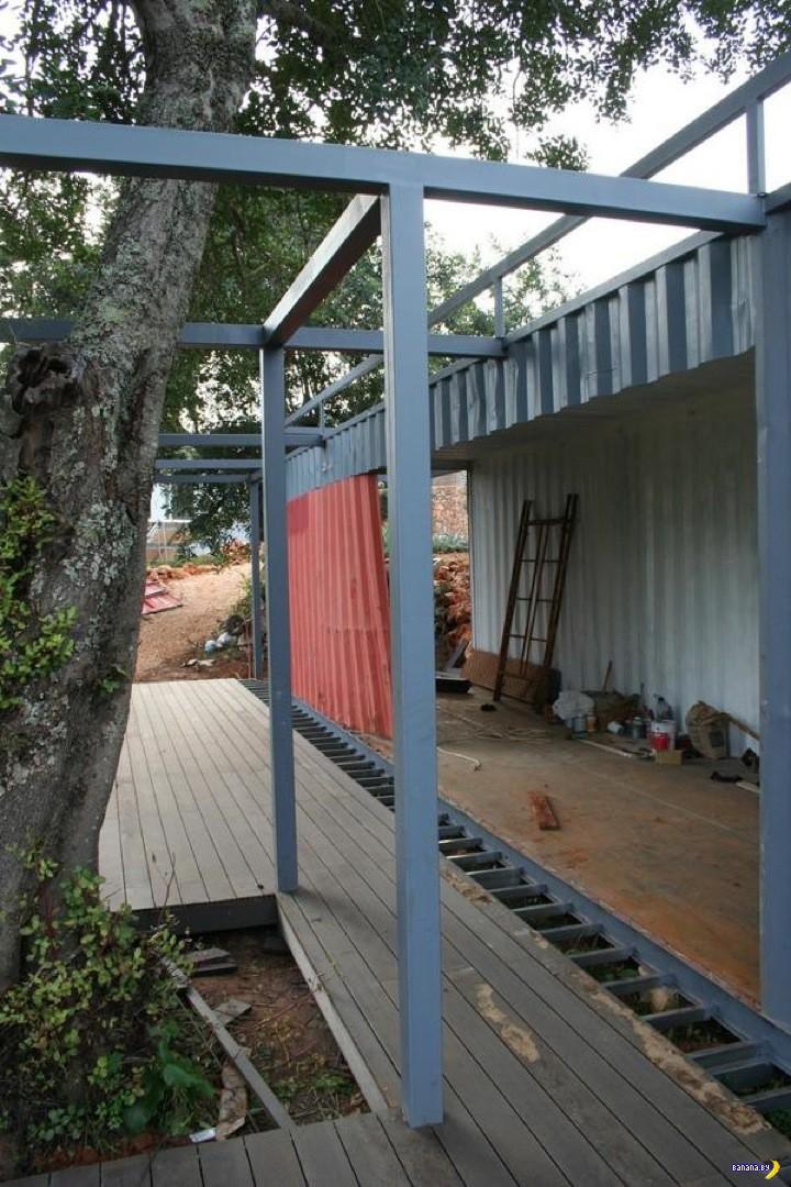 Летний дом из контейнера