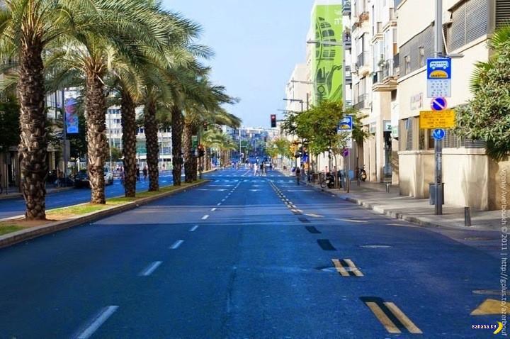 Йом-Киппур и пустые шоссе в Израиле