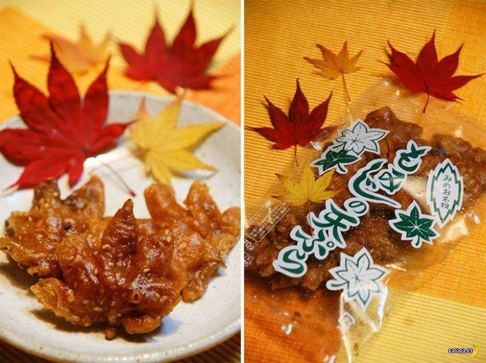 Японцы едят кленовые листья