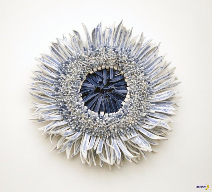 Фигуры из тысяч керамических лепестков