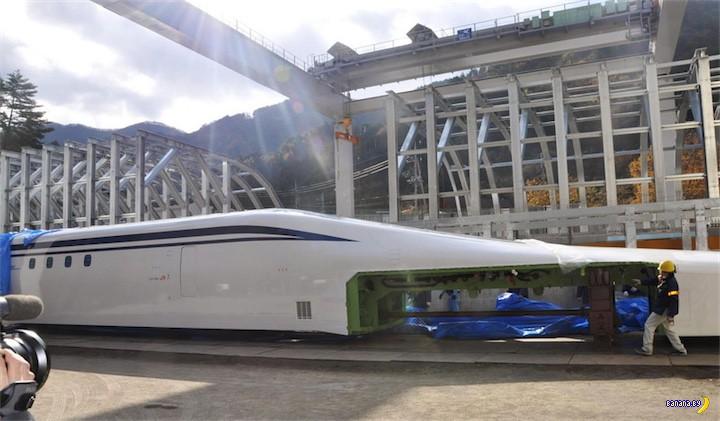 Японцы разгоняют поезд до 480 км/ч